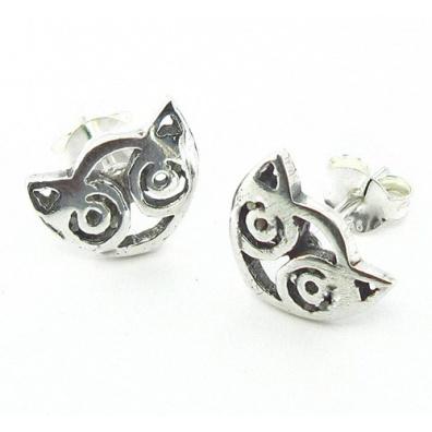 Zilveren Maori oorbel (klein)