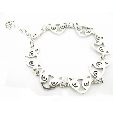 Zilveren Maori Armband