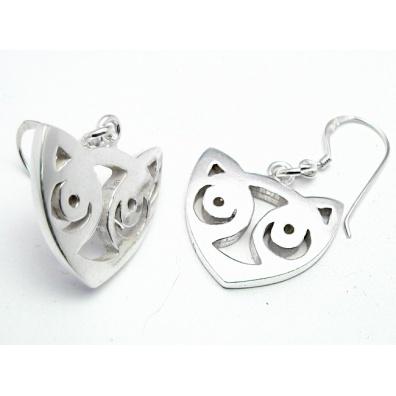 Zilveren Maori oorhangers