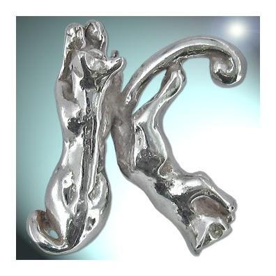 K - Het alfabet in zilver
