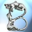 B - Het alfabet in zilver