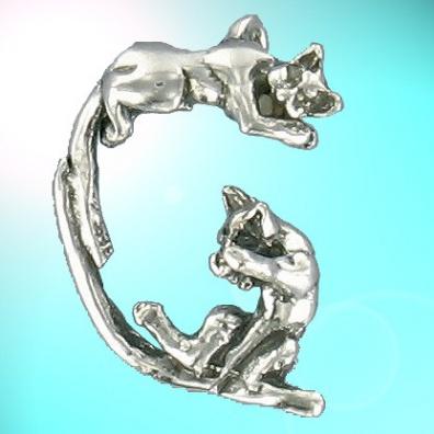 G - Het alfabet in zilver