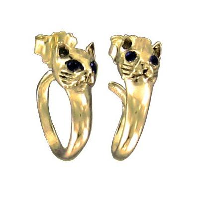 Gouden Egyptische Kat Oorbellen