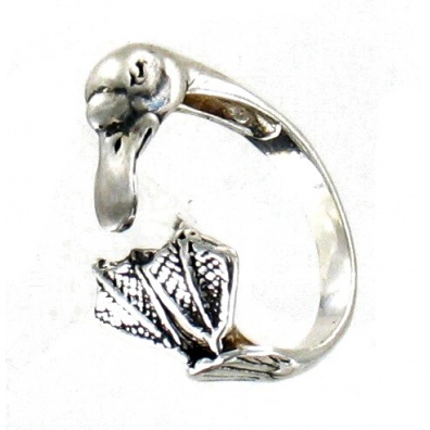 Open Zilveren Eend Ring.
