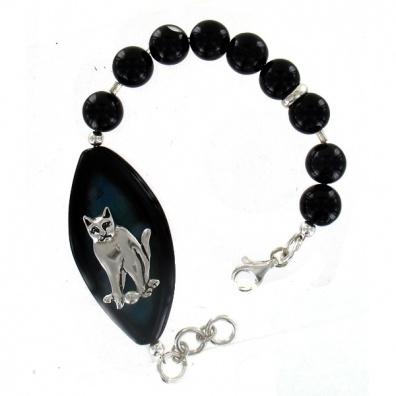 Onyx armband met zilver