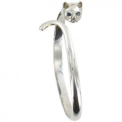 Zilveren Egyptische Kat armband