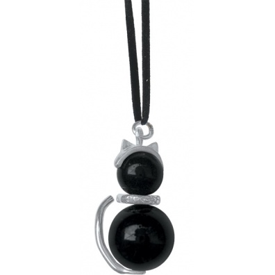 Lucky charm onyx with silver