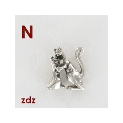 N - Het alfabet in zilver