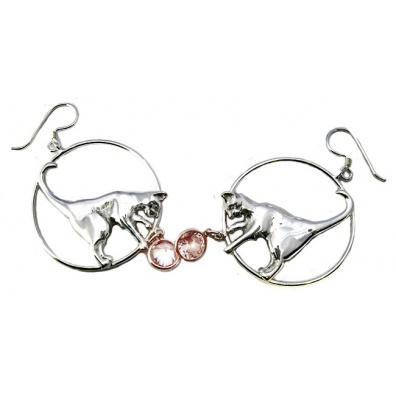 Zilveren oorbellen met zirconia